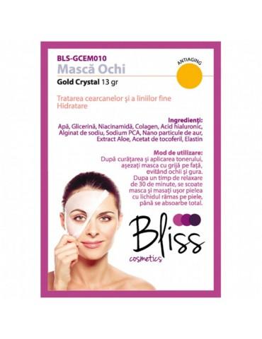 Mască pentru ochi cu cristale de aur si colagen